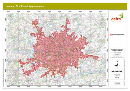 Defra Noise Map London First Round Agglomeration 16 May 2008