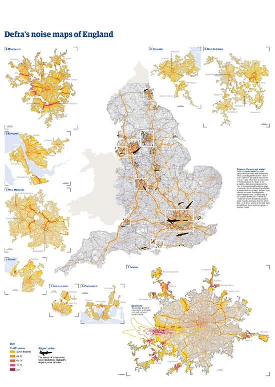 Defra Noise Maps of England in The Guardian 17 May 2008