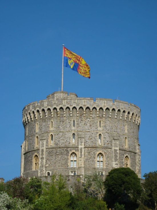 Queen's 83rd Birthday Royal Standard flies over Round Tower in Windsor Castle 21 April 2009